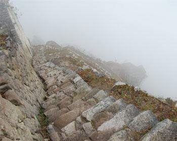 Huayna Picchu: les escaliers de la mort